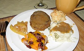 Thanksgiving day meal