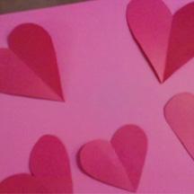 Make paper hearts