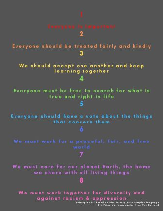 Principles One Page